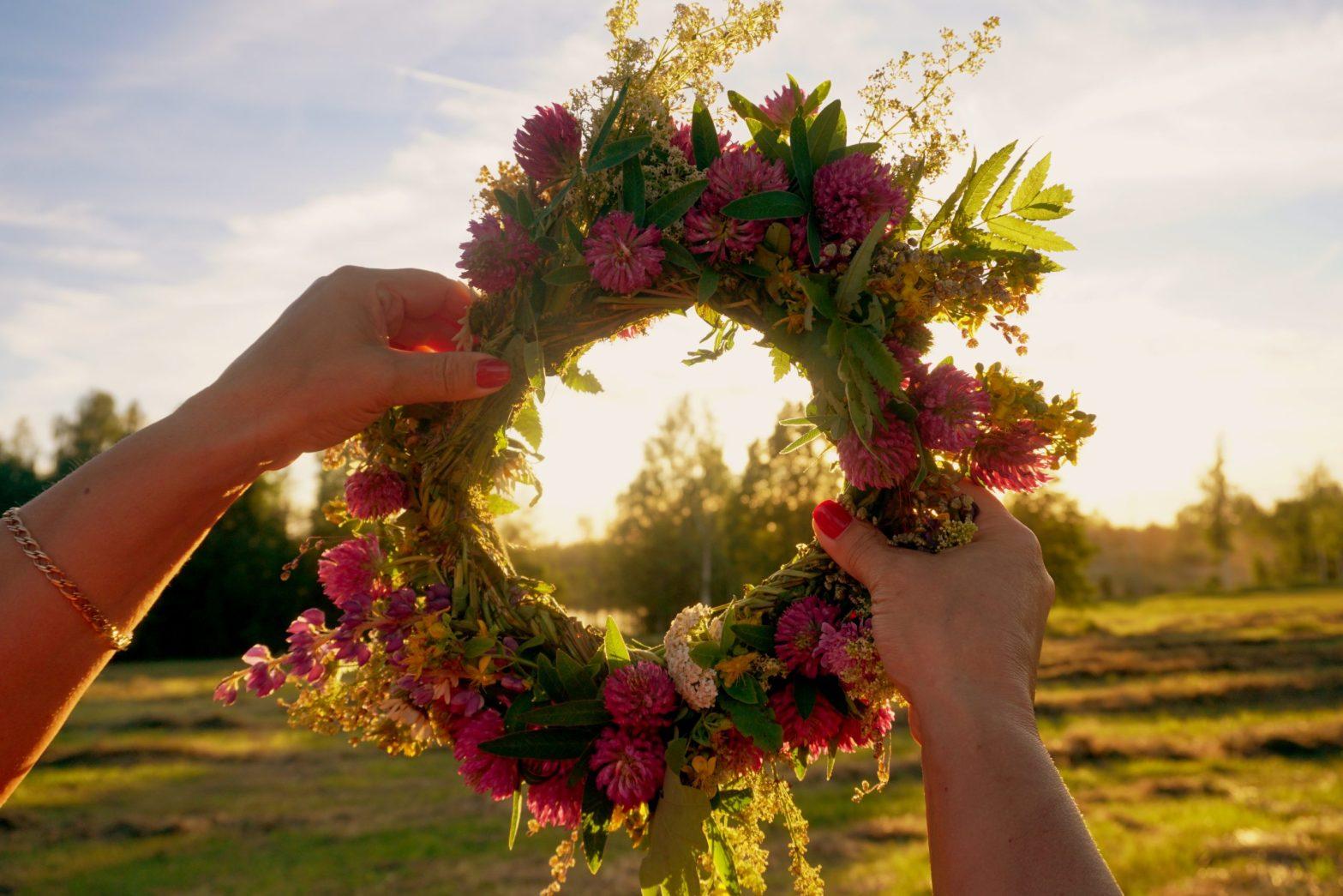 Latvia summer celebration wreath