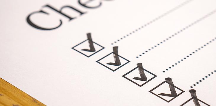 Lista de verificação da autoridade em blogs de sucesso.