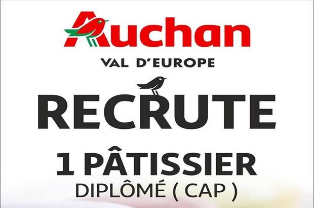 Val d'Europe ►Auchan  recrute 1 pâtissier