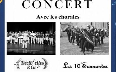 Coupvray ► Concert avec les chorales Decib'Elles & Cie et les 10'Sonnantes.