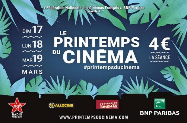 Le Printemps du cinéma 2019 : 4€ la séance les 17, 18 et 19 mars
