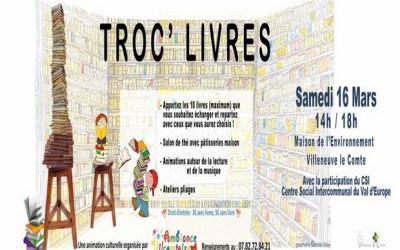 Villeneuve-le-Comte ► 8e édition du Troc'Livres Samedi 16 mars 2019