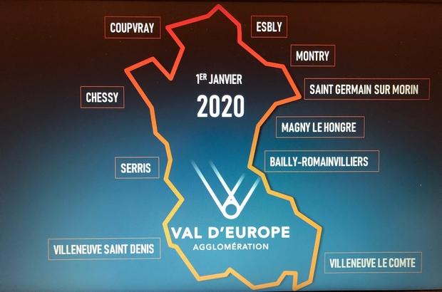 Val d'Europe Agglomération ► les élus votent l'entrée de 3 nouvelles communes