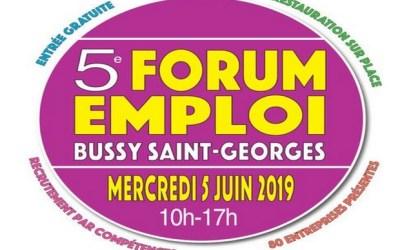 Bussy Saint Georges ► 1500 emplois proposés lors du Forum de l'Emploi le 5 juin