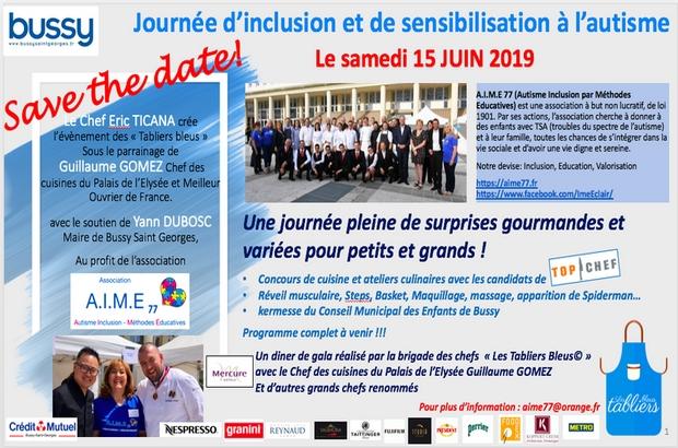 Bussy Saint Georges ►Journée de sensibilisation à l'autisme et à l'inclusion Samedi 15 Juin