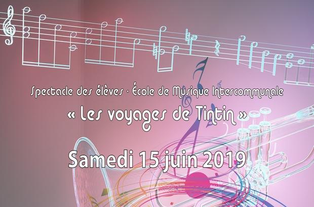 Magny le Hongre ► Concert  « Les Voyages de Tintin » le 15 juin à la Salle des fêtes