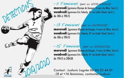 Serris ► Le Handball Club organise des détections équipes féminines saison 2019 – 2020