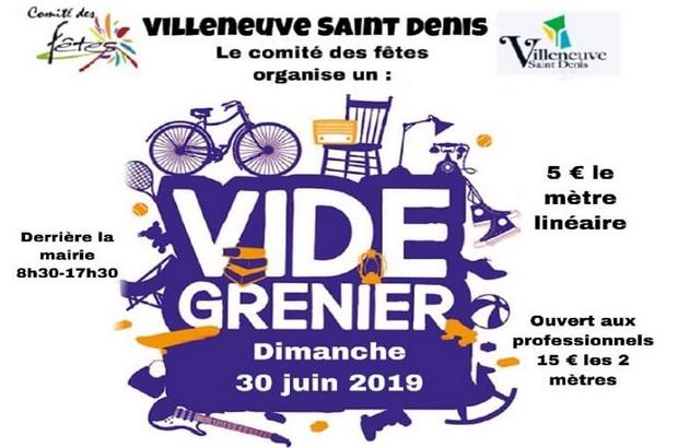 Villeneuve-Saint-Denis ► Le comité des fêtes organise son vide-grenier  le 30 juin 2019
