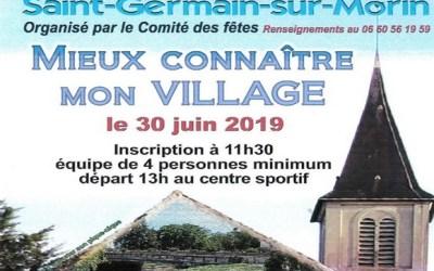 Saint-Germain-sur-Morin ► organise un jeu de piste Mieux connaître mon village