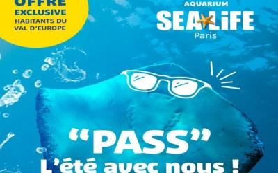 Serris ►Profitez de visites en illimité à Sea Life jusqu'au 8 septembre avec le Pass Résident