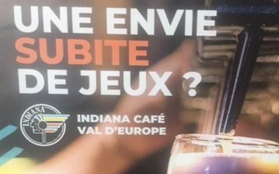 Serris ► Soirée jeux à l'Indiana Café Val d Europe jeudi 13 juin à partir de 19h