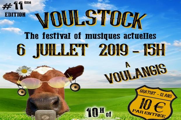 Concert ►La 11ème édition du Festival Voulstock revient le 6 juillet 2019 à Voulangis