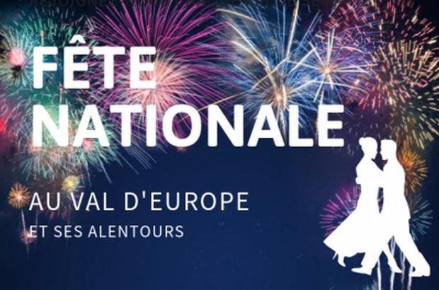 Les festivités de la Fête Nationale au Val d'Europe et les villes avoisinantes