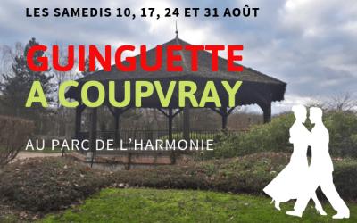 Coupvray ►Les samedis d'août, une guinguette s'installe au parc de l'Harmonie.