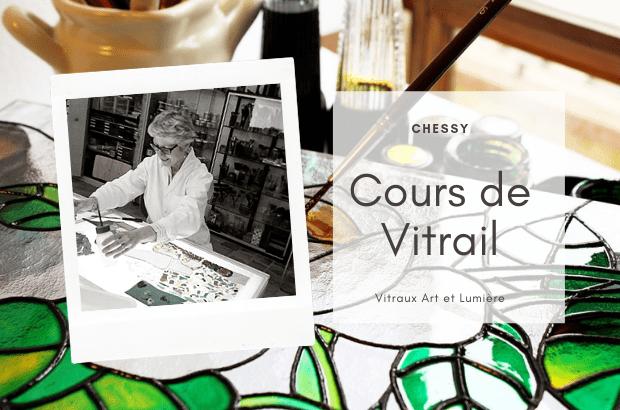 Chessy ►Cours de vitrail Plomb et Tiffany avec l'association Vitraux Art et Lumière