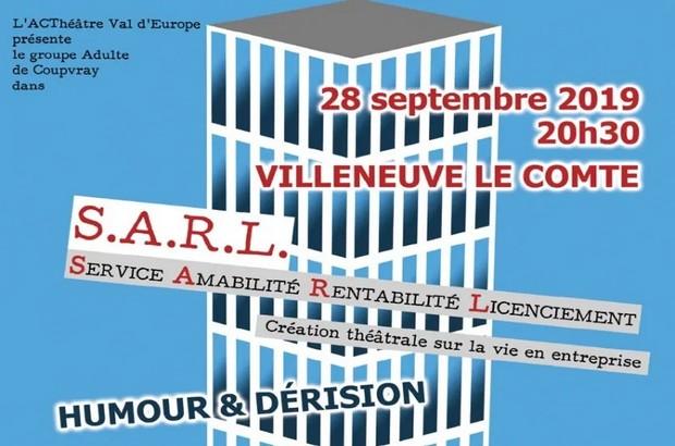 Villeneuve-le-Comte ► spectacle » S.A.R.L » d'A.C' Théâtre Val d'Europe le 28 septembre