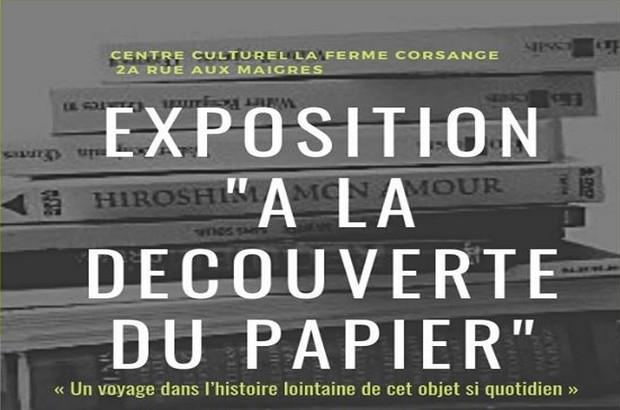 Bailly-Romainvilliers ► Exposition  «A la découverte du papier»du 8 au 17 octobre