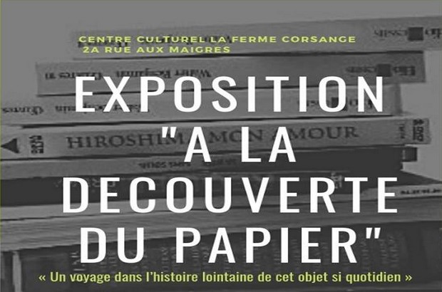 """Bailly-Romainvilliers ► Exposition  """"A la découverte du papier""""du 8 au 17 octobre"""