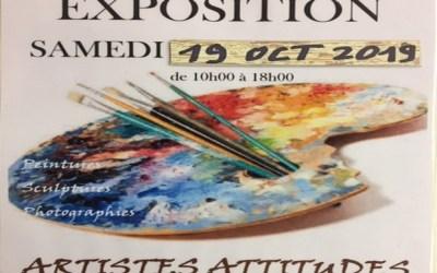 Une Exposition d'Artistes Attitudes se tiendra à la salle Jeanne d'Arc d'Esbly