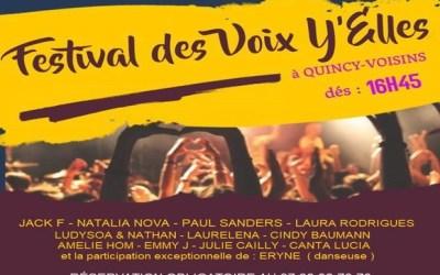Quincy-Voisins ►Festival des Voix Y'Elles 2019 samedi 26 octobre 2019
