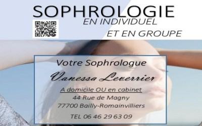 Vanessa Leverrier propose des Ateliers de Sophrologie à Bailly-Romainvilliers