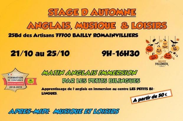 Stage musique, anglais avec Captain Croche et Les Petits Bilingues à la Toussaint