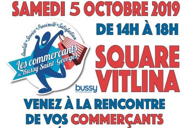Animations des commerçants de Bussy Saint Georges au square Vitlina