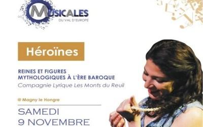 Concert Héroïnes Reines et figures mythologiques en l'Eglise Sainte-Geneviève