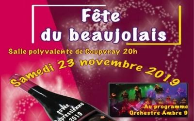 Le Comité des Fêtes organise une soirée pour fêter l'arrivée du Beaujolais nouveau.