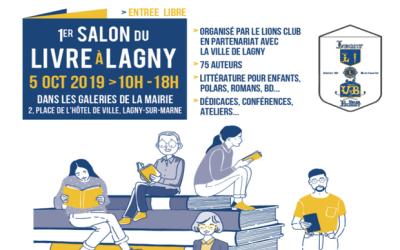 75 auteurs présents pour le Salon du livre à Lagny sur Marne samedi 5 octobre