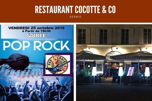 Soirée Pop Rock au restaurant Cocotte & Co vendredi 25 octobre 2019