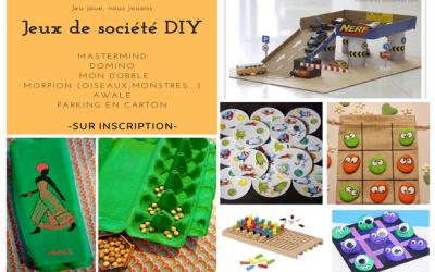 Venez créer votre jeu de société en famille au Village des associations de Montévrain