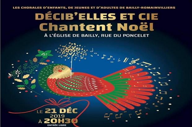 Les Chorales Décib'Elles & Cie chanteront Noël à l'église de Bailly le 21 décembre