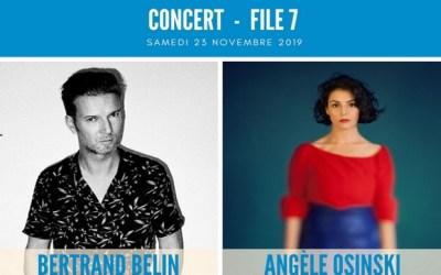 Concert Rock avec Bertrand Belin et Angèle Osinski le 23 novembre au File 7