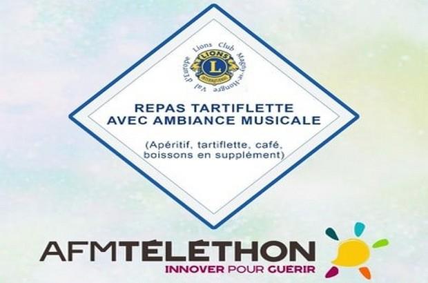 Téléthon : Soirée tartiflette avec ambiance musicale à Magny le Hongre le 6 Décembre