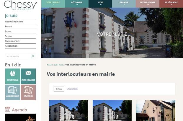 La ville de Chessy Val d'Europe à mis en ligne son nouveau site Internet