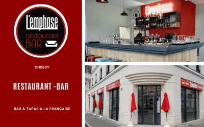 L'emphase, un restaurant – Bar -Tapas ouvre à Chessy au centre urbain du Val d'Europe.