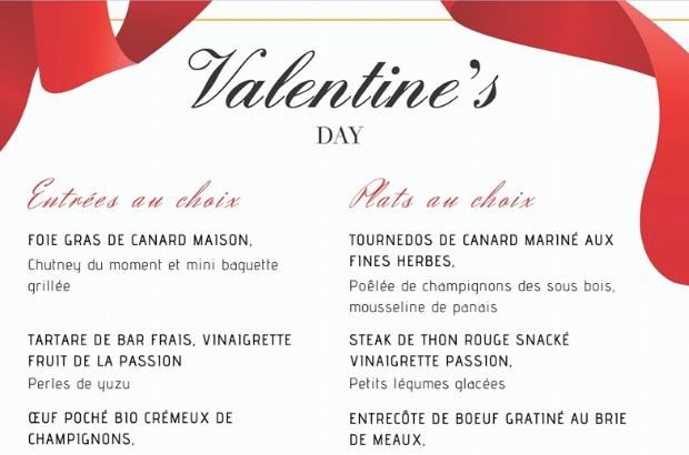 Serris : Dîner de Saint Valentin avec Un Des Sens Restaurant, pensez à réserver !