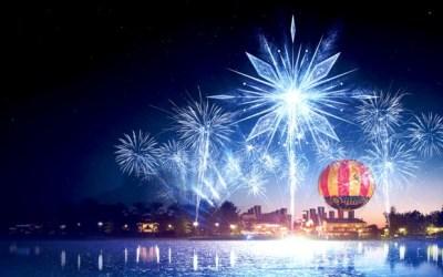 Magie sur le Lac, un show son et lumière gratuit dédié à la Reine des Neiges à Disney Village