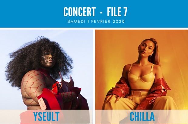 Magny le Hongre : Concert Rap-Rnb avec Yseult et Chilla le 1er février 2020 au File 7