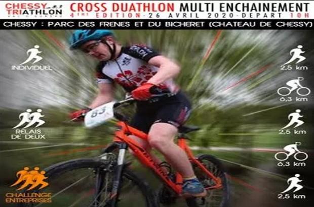 Chessy : 4e édition du cross duathlon multi-enchaînement dimanche 26 avril