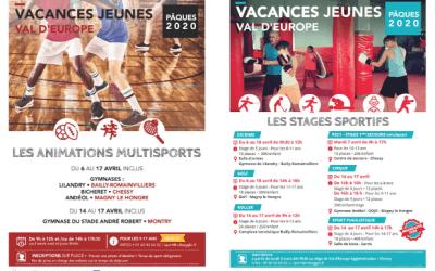 Stages et animations multisports vacances de Pâques pour les jeunes valeuropéens