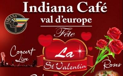Grande soirée spéciale Saint Valentin à l'Indiana Café du Val d'Europe