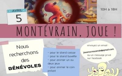 [ANNULÉ] L'association Jouons Crescendo de Montévrain cherche des bénévoles !