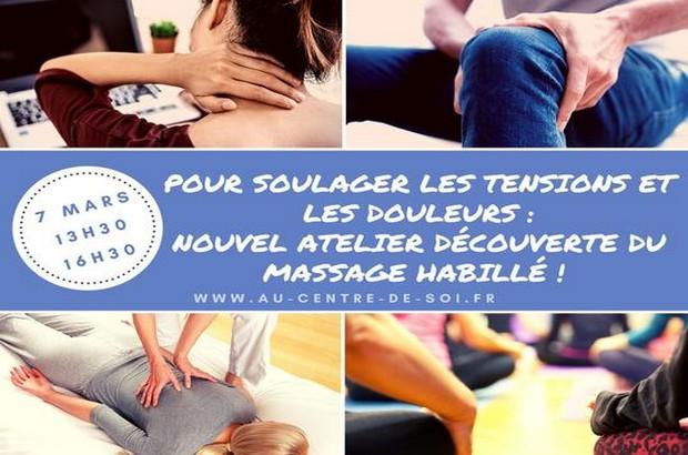 Atelier découverte du massage habillé samedi 7 mars à Bussy Saint Georges