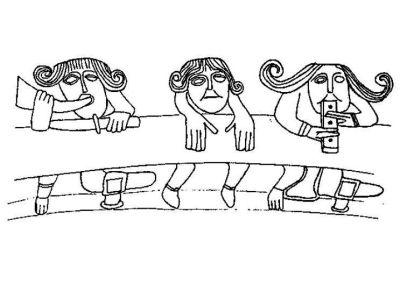 Cojos y miserables en la portada románica de Echano (Navarra)