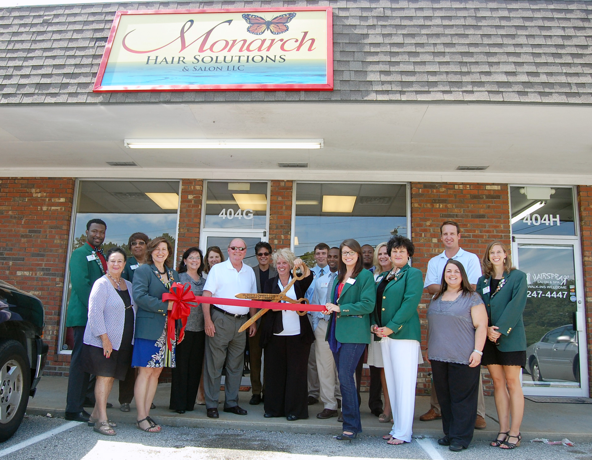 Monarch Hair Solutions and Salon LLC  Ribbon Cutting  ValdostaLowndes Chamber of Commerce