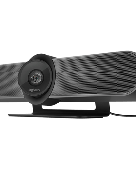 Logitech MeetUp 4K Conferencecam with 120-degree FOV & 4K Optics HD Video & Audio Conferencing Camera System for Small Meeting Rooms