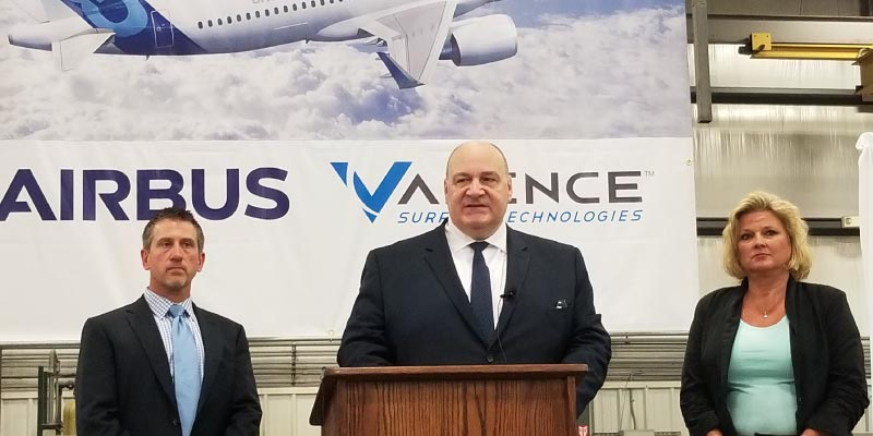 Valence Surface Technologies is the First Product Finishing Supplier to be accepted and recognized by Airbus Americas' Prestigious Supplier Engagement Program