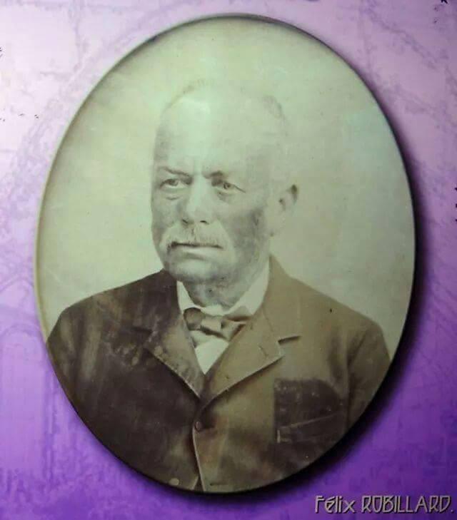 Félix Robillard Cloisier, foto cedida por Miguel Angel Belenguer en la exposición del Ateneo Marítimo con motivo del Segundo Centenario del nacimiento de Robillard (1812-2012).